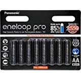 Panasonic AA Ni-MH, High Capacity Eneloop AA Pro 8 Pack Pre-Charged Rechargeable Batteries, (BK-3HCCE/8BT)