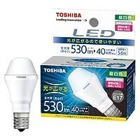 東芝 E-CORE(イー・コア) LED電球 ミニクリプトン形 5.6W (光が広がるタイプ・密閉形器具対応・断熱材施工器具対応・口金直径17mm・小型電球40W相当・530ルーメン・昼白色) LDA6N-G-E17/S