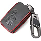 AndyGo Premium Luxury Leather Smart Key Remote Cover Fit for Toyota Land Cruiser Prado 150 Camry Prius Crown