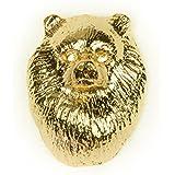 ポメラニアン イギリス製 22ctゴールドプレート アート ドッグ ピンバッジ コレクション