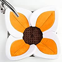 vibolaベビーシャワー咲き乱れる花、浴槽ベビーバスLotus FlowerベビーバスPlush forベビーシンクバス L オレンジ Vibola®25