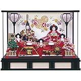 雛人形 小三五親王 五人飾り ケース入り オルゴール付 ひな人形 ケース飾り HNF-3330-82-007F