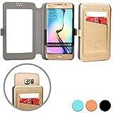 Cooper Cases(TM) Slider Pocket BenQ A3 / F3 / T3 スマートフォンウォレットケース(ゴールド)