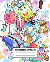 Composition Notebook: SpongeBob SquarePants Cute Animated Cartoon Patrick Star Squidward Tentacles Wide Ruled Lined Composition Writing Workbook for Teens & Children, Journal, Diary • 7.5 x 9.25 Inches 110 Pages