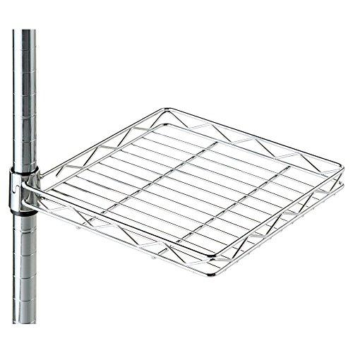 RoomClip商品情報 - ルミナス メタルラック パーツ 後付け 回転テーブル ポール径25mm用パーツ 幅25.5×奥行27.5×高さ4cm 25AKT-2525