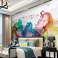 Ansyny カスタム3D壁壁画壁紙抽象山水絵画新しい中国風壁画壁紙用リビングルーム寝室の壁-420X280cm