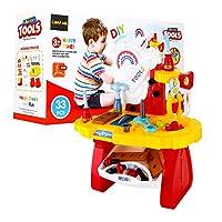 Baby Stemおもちゃツールセット、おもちゃChoi 's 33個ワークベンチ構築ツールDIY子供Preschool Pretend Play Toy Set