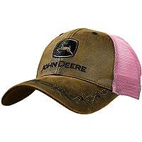 John Deere Oilskin Mesh Back Embroidered Hat Pink