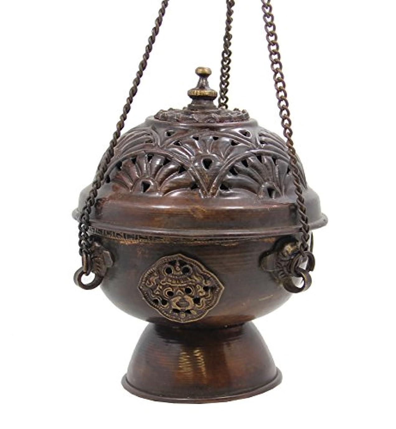分泌する絶滅させる溢れんばかりのプレミアム品質銅真鍮Hanging Incense Burner B000ZED3J6