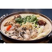 牡蠣 の 味噌 仕立て 鍋 セット(4~5人前分)( 牡蠣鍋 セットの牡蠣は 厚岸 産か仙鳳趾産です) ※クール冷蔵発送