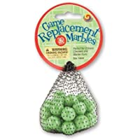 Mega Marbles Replacement Game (30 Piece), Green, 14mm by Mega Fun USA