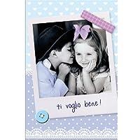 【LEGAMI】 イタリア製 グリーティングカード 封筒付 少年と少女 ti voglio bene! イタリア語で「愛してます!」