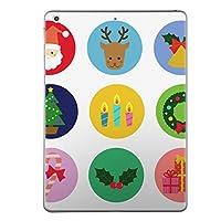 第2世代 iPad Pro 10.5 inch インチ 共通 スキンシール apple アップル アイパッド プロ A1701 A1709 タブレット tablet シール ステッカー ケース 保護シール 背面 人気 単品 おしゃれ クリスマス サンタ トナカイ 013809
