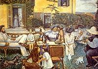 ボナール・「中産階級の午後あるいはテラス家の人々」 プリキャンバス複製画・ ギャラリーラップ仕上げ(6号サイズ)