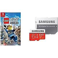 レゴ (R) シティ アンダーカバー  - Switch + Samsung microSDXCカード 64GB EVO Plus Class10 UHS-I U3対応 セット