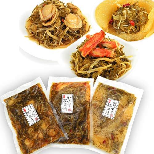 国華園 北海道松前漬3種セット 3袋(3種各1袋) 冷凍便
