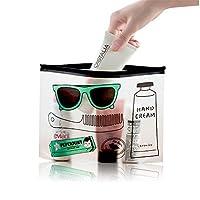 M, 2 : Printing Wash Cosmetic Storage Bag for Bathroom Women Bag Hot PVC Fashion Travel Organizer Makeup