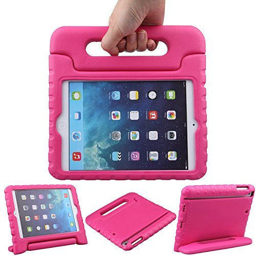 iPad Mini 3 /2 /1 ケース LEFON 耐衝撃 軽量 EVA素材 子供用 Apple iPad mini 3 / mini 2 (iPad mini Retinaディスプレイ)/ mini カバー ハンドル付き スタンド機能 (ローズレッド)