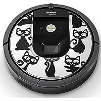 iRobot ルンバ Roomba 専用スキンシール ステッカー 960 980 対応 アニマル ねこ 猫 イラスト 006306