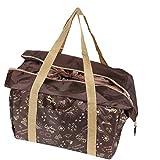 キャプテンスタッグ(CAPTAIN STAG) エコバッグ 保冷バッグ レジかご 保冷ショッピングエコバッグ 巾着付き ブラウン ブランシュ UL-2054
