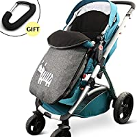 celemoon [アップグレードバージョン]ユニバーサルBaby Stroller Sleepingバッグ、Baby BuntingバッグFootmuff Warmer for幼児用、グレー