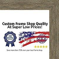 13x 39素朴な色木製写真パノラマフレーム–UVアクリル、フォームボードBacking、& Hangingハードウェア付属。