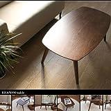 天然木 突板 センターテーブル 北欧 折りたたみ 完成品 ローテーブル (幅90㎝タイプ)