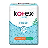 Kotex Fresh Regular scented with Green tea Feminine Care Liners, 40ct (packaging may vary)