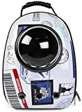 Eternal Wings ペット バッグ ペット用キャリーバッグ 宇宙船カプセル型ペットバッグ 犬猫兼用 ペットバッグ ネコ ニャンコ 犬 ペット用品 リュックサック 人気ペット鞄