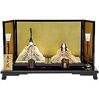 雛人形 平飾り木目込み親王 帯地春光雛25070 幅68cm 3mk8 真多呂 伝統的工芸品