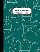 Math notebook: 1/2 inch Square Graph paper pages and White Paper-kids,girls,boys,teens -100 pages large(8.5x11)