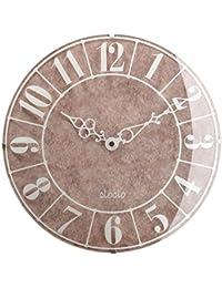 壁掛け時計 アナログ 丸型 時計 掛け時計 ウォールクロック クロック 秒針なし 大理石調 生活雑貨 おしゃれ ホワイト