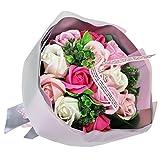フレグランス シャボンフラワー ブーケフラワー 花束 FPP-806 (ピンク)