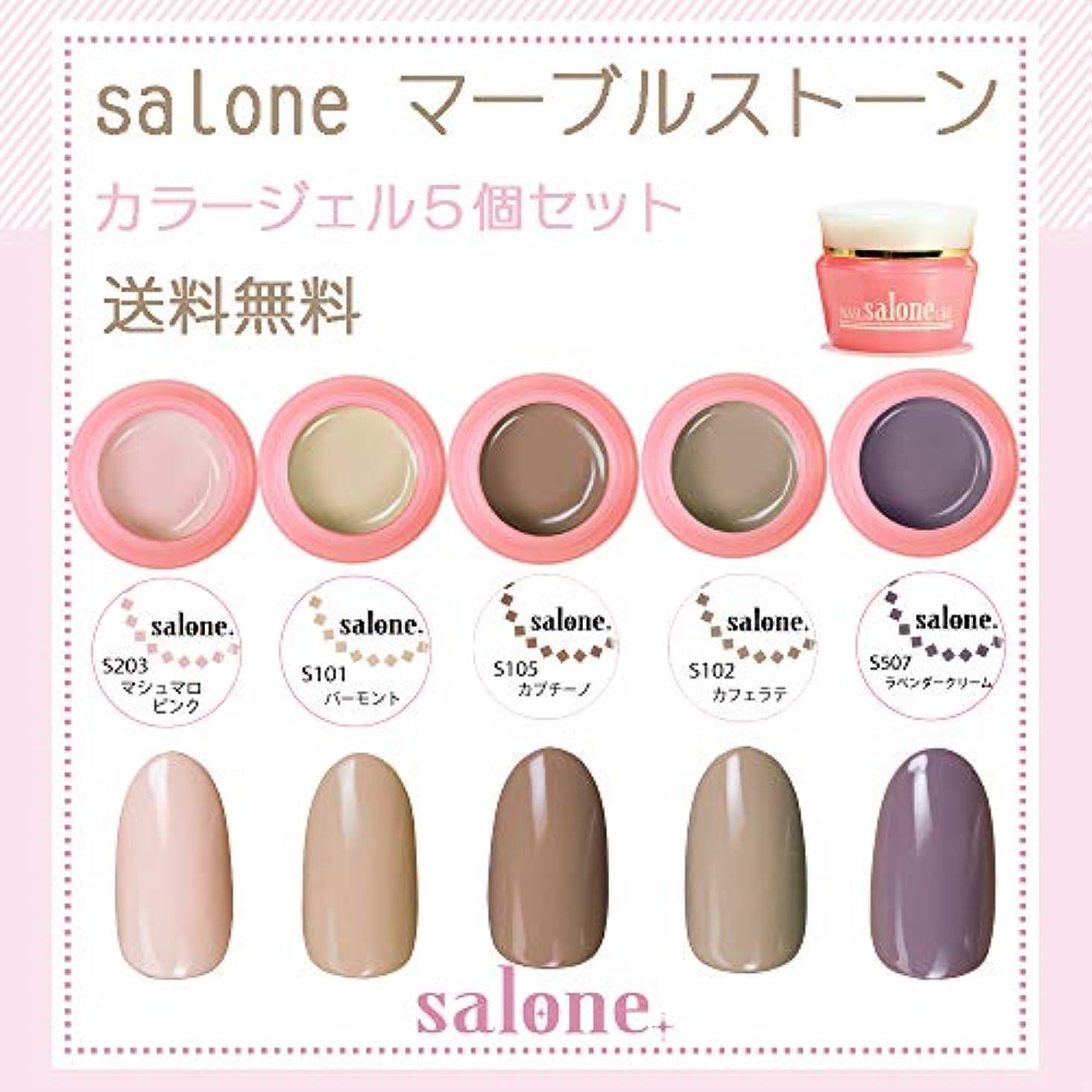 【送料無料 日本製】Salone マーブルストーン カラージェル5個セット ネイルのマストデザイン大理石ネイルカラー
