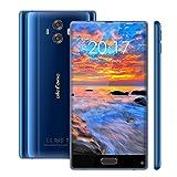 Ulefone MIX スマホ SIMフリー(au不可) 4G フルスクリーン MT6750T 8-core 3300mAh 5.5インチ デュアルカメラ 13mpフロントカメラ アルフラッシュ 13MP+5MPメインカメラ 4GB RAM 64GB ROM 1280 x 720px HD 前置指紋認証 GSM WCDMA FDD-LTE ブラック ブルー GSM WCDMA FDD-LTE (ブルー)