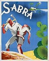 Sabraヴィンテージポスター(アーティスト: globtchwsky )ポーランドC。1933 12 x 18 Art Print LANT-58850-12x18