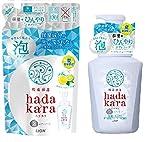 hadakara(ハダカラ) ボディソープ 泡タイプ 保湿+ひんやりタイプ クールフレッシュの香り セット 本体530ml+詰替420ml