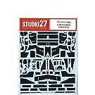 スタジオ27 1/20 F1-2000 カーボン デカール タミヤ対応 STUDIO27
