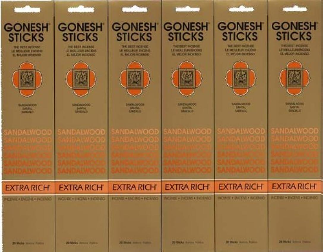 無秩序圧倒的共産主義GONESH SANDALWOOD サンダルウッド 20本入り X 6パック (120本)