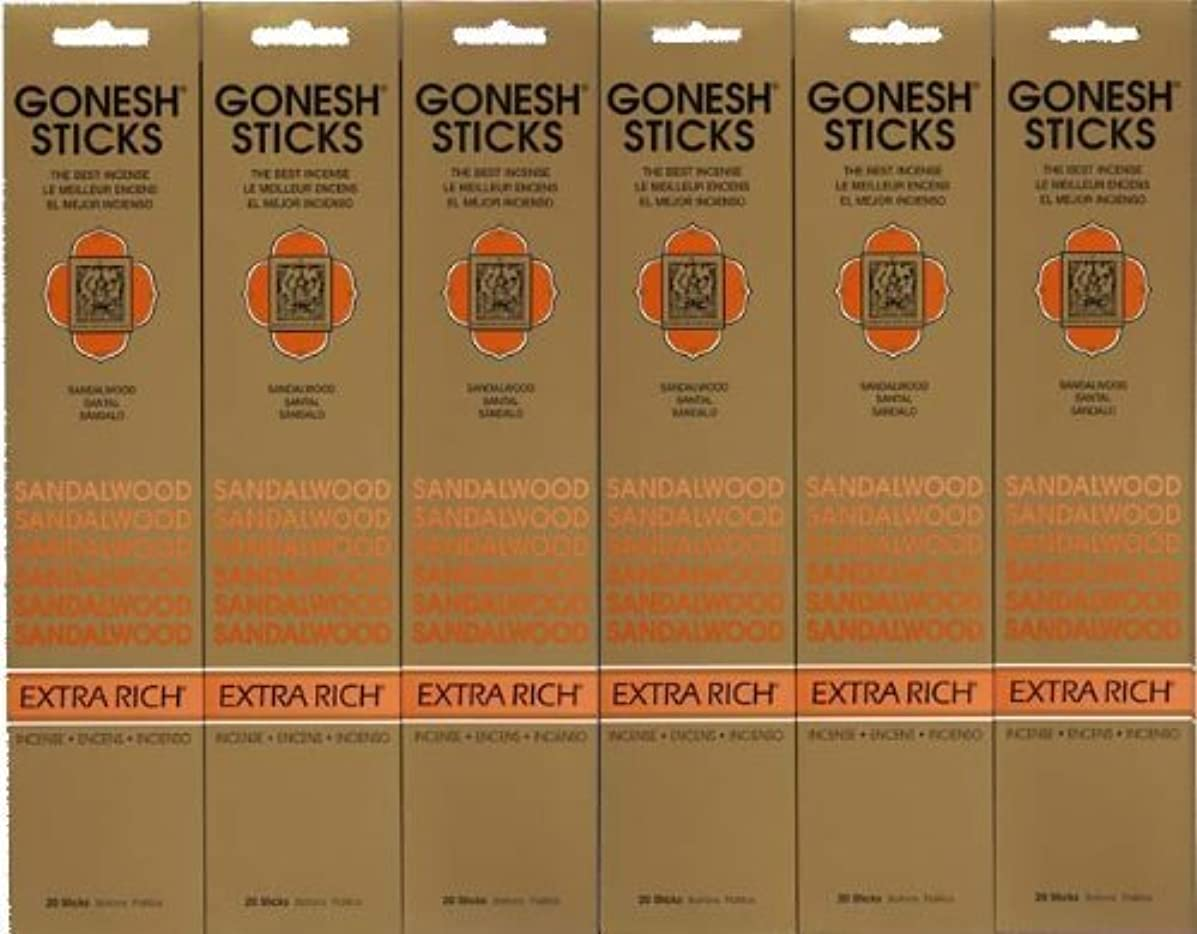 テクトニックペデスタル可動式GONESH SANDALWOOD サンダルウッド 20本入り X 6パック (120本)