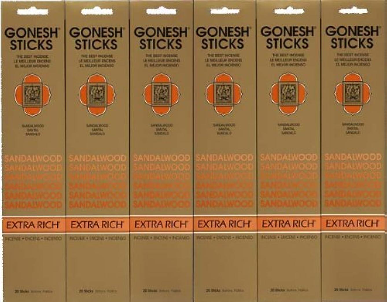 キャラクターパフ法律GONESH SANDALWOOD サンダルウッド 20本入り X 6パック (120本)