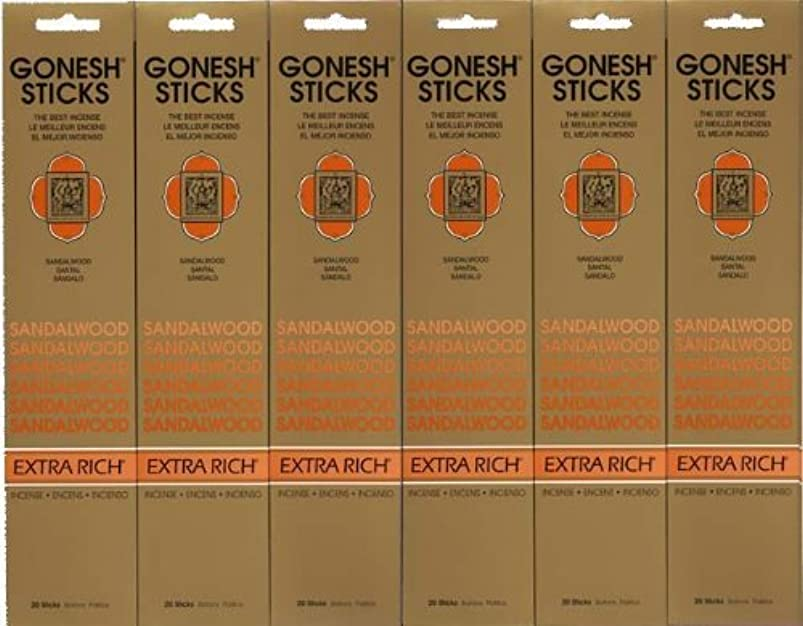他の場所お酒社交的GONESH SANDALWOOD サンダルウッド 20本入り X 6パック (120本)