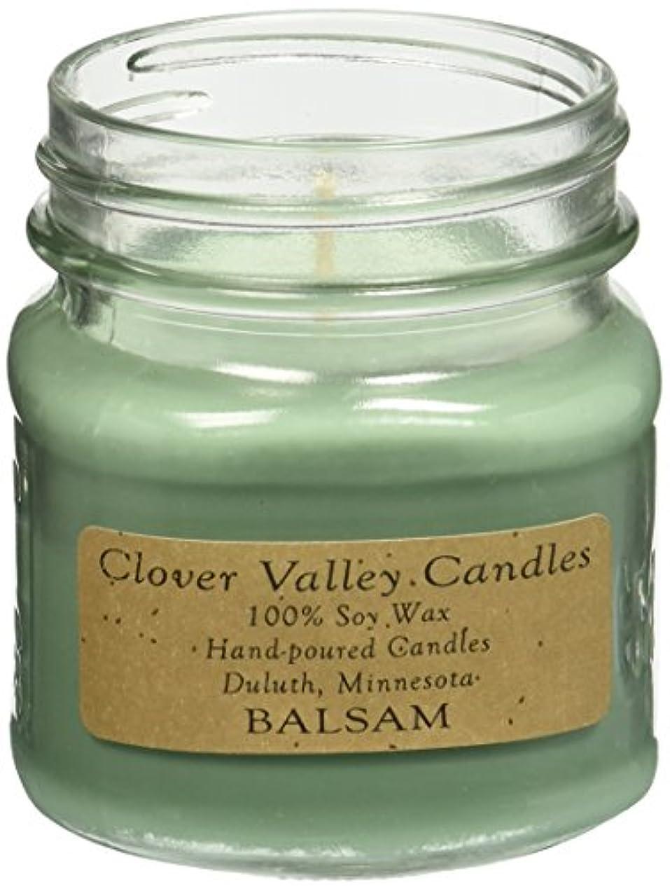 ハリケーン軽食法令Balsam & Cedar Half Pint Scented Candle byクローバーValleyキャンドル
