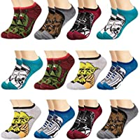 Star Wars 12 Pairs of Boys Low Cut No Show Socks Set No Show Socks By Planet Sox For Kids Ankle Socks