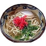 沖縄ソウルフード おきなわ島そば2人前 今だけ1人前おまけ付き 紅しょうが付き 鰹だし風味のスープがGood