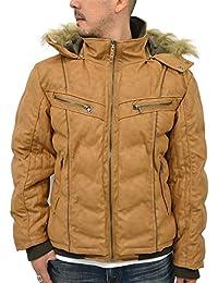[マルカワジーンズパワージーンズバリュー] 大きいサイズ メンズ ジャケット 中綿 PUレザー フード オフワイト
