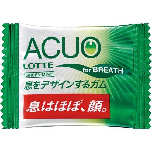 ロッテ ACUOグリーンミントガム 2粒×100P