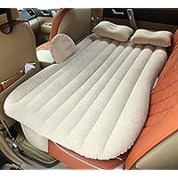 SUVエアベッド、GZD多機能インフレータブルカーマットレス後部座席クッションモーターポンプと2つの枕、ホーム、車、屋外キャンプユニバーサル、85 * 138センチメートル,Beige