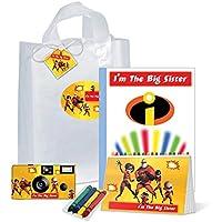 The Incredibles I ' m The Big Sisterの贈り物bag-full goodies-camera、フォトアルバム、カラーリングブックand More、pkg125