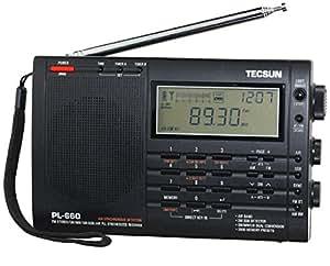 TECSUN PL-660 ブラック PSE 100V ACアダプター付属 BCLラジオ FM/MW/SW/Air